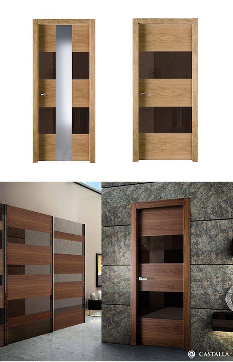 Puerta hermes en 2019 madera oscura puertas de - Puertas de cristal para interiores ...