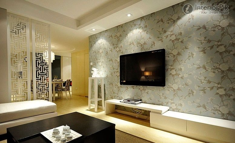 Modern Living Room Wallpaper Ideas Wallpaper Behind Tv | Family Room |  Pinterest | Wallpaper And Part 38