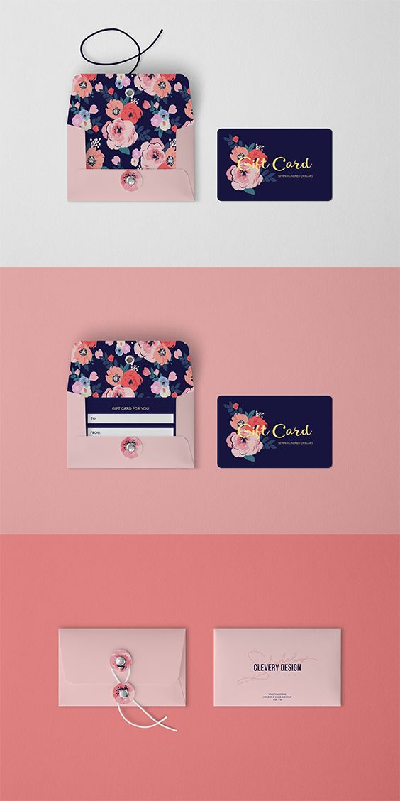 Credit Card Holder Wallets mockup template for Ladies Girls//Gift Box