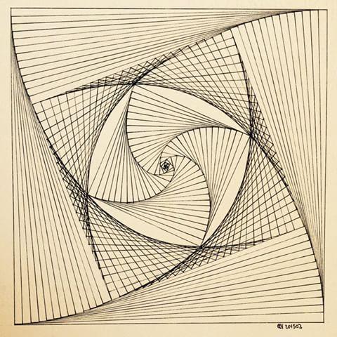 Geometry Symmetry Patterns String Art Square Art Circle Disk