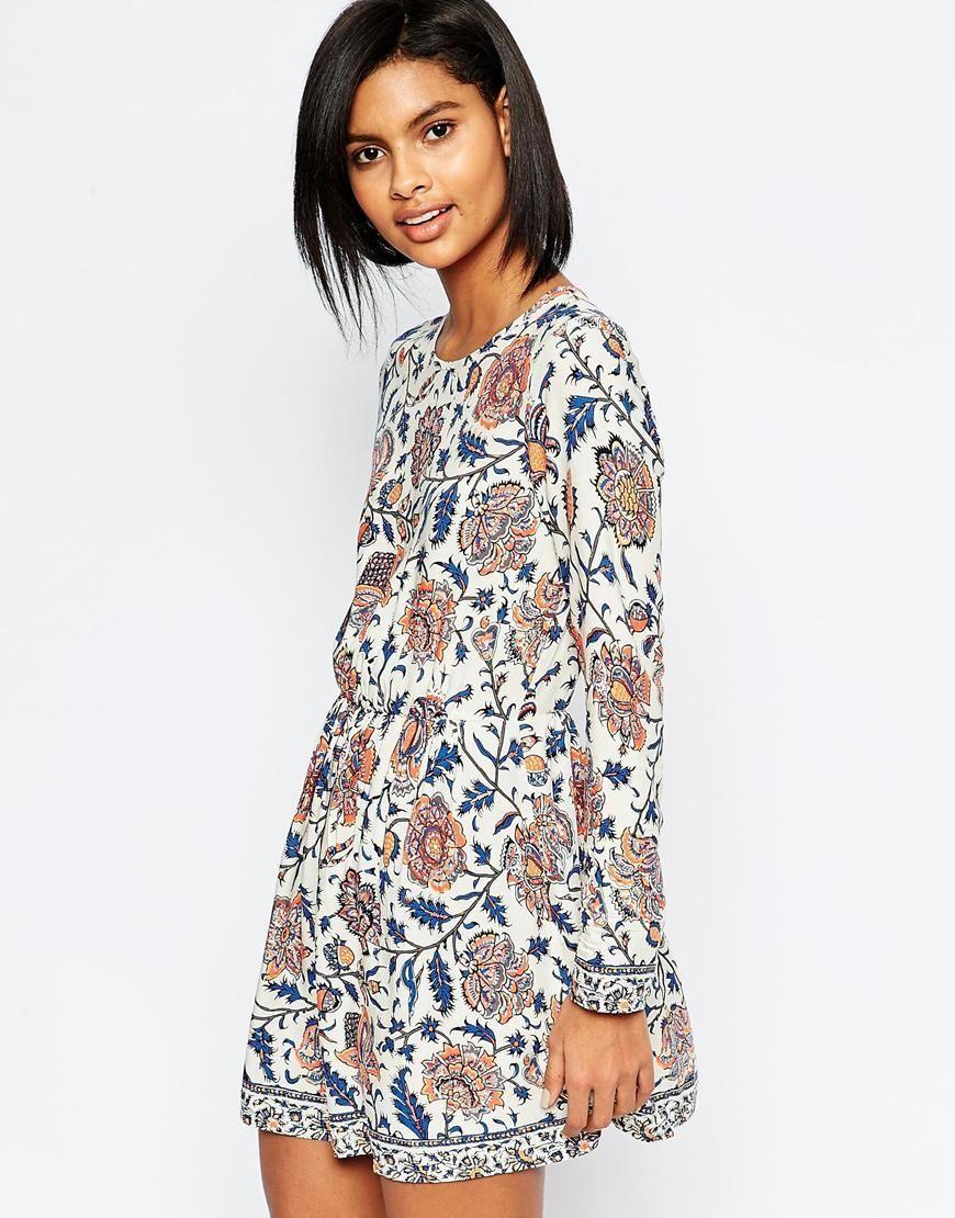 Vero moda vero moda folk floral smock dress at asos it looks