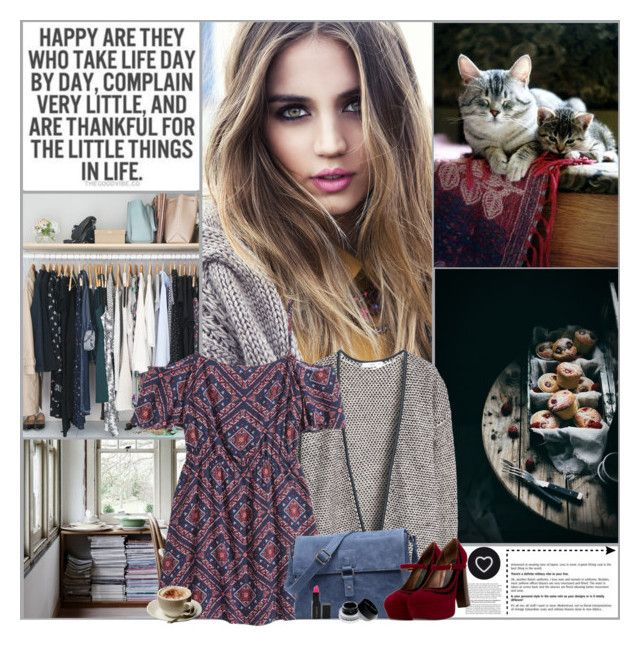 """""""The Little Things In Life"""" by kittyfantastica ❤ liked on Polyvore featuring MANGO, Marni, Smashbox, Parra, Bobbi Brown Cosmetics and Seletti"""