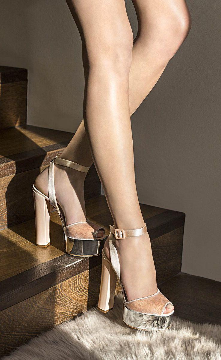 c442cec4215 Giuseppe Zanotti Sandals - AMELIA - Pink Velvet Clog Mirrored Silver  Platform Heels