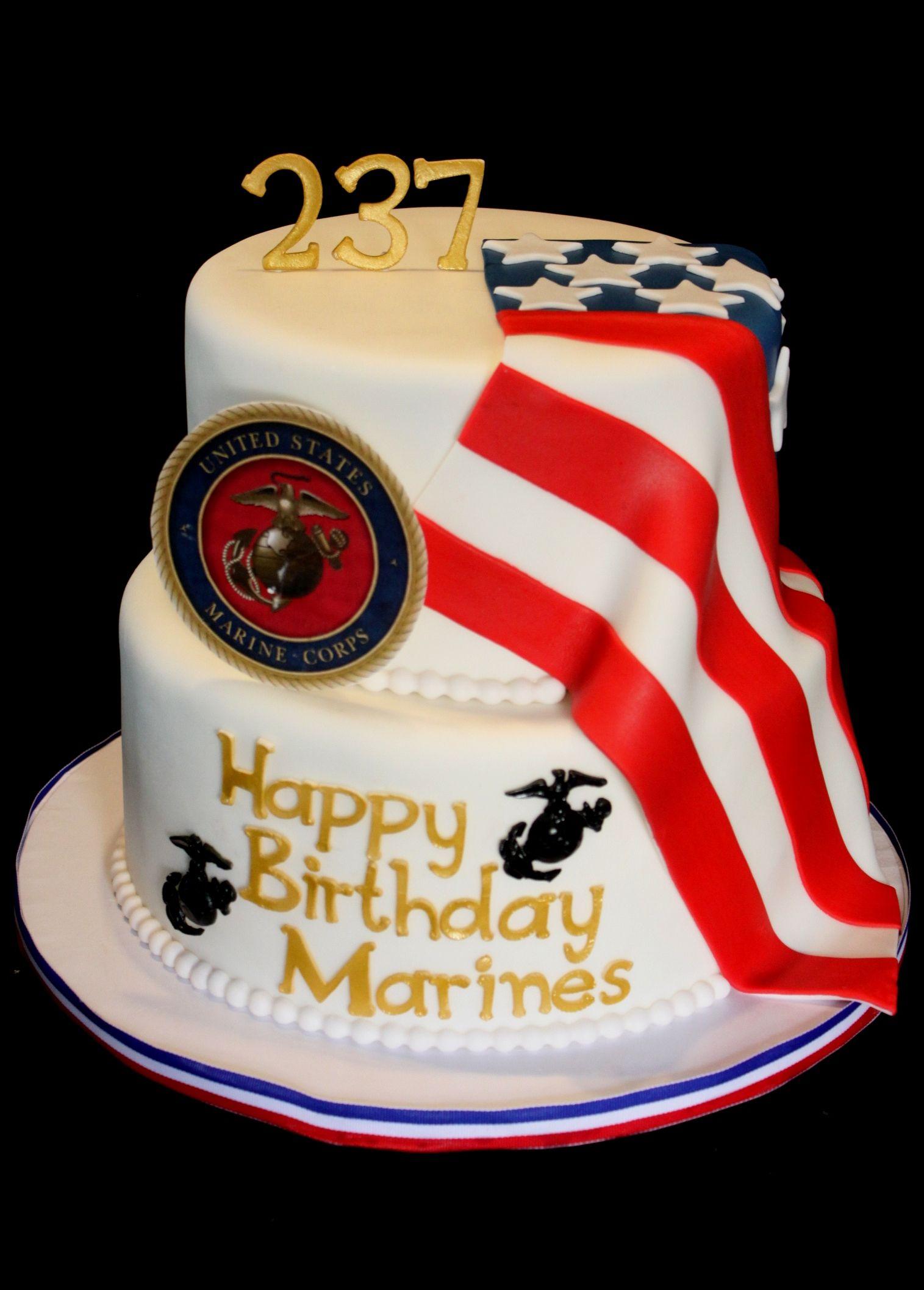Marine Corps Birthday Cake Marine Corps Cake Marine Corps