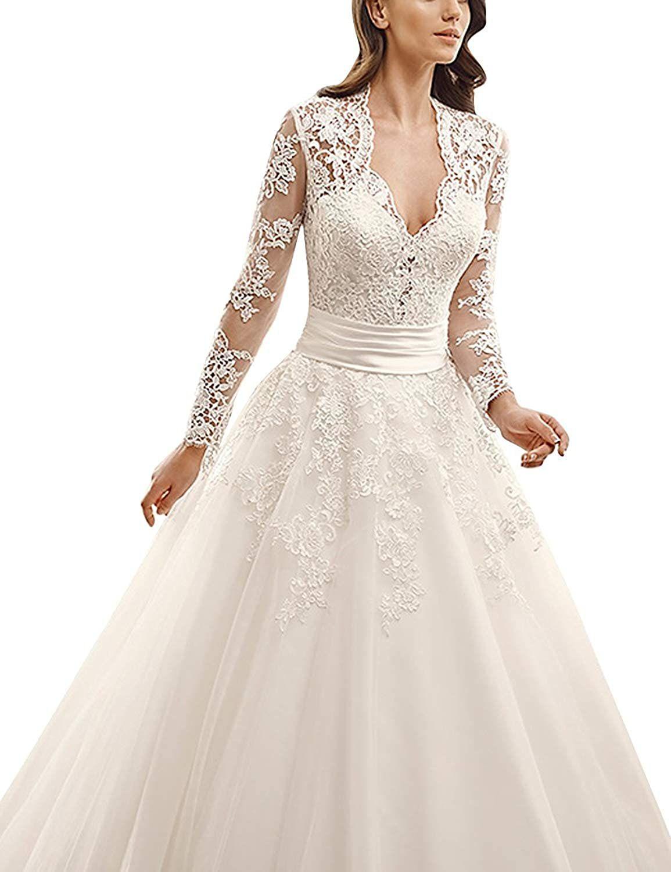 Brautkleid Lang Prinzessin Damen Hochzeitskleider Vintage ...