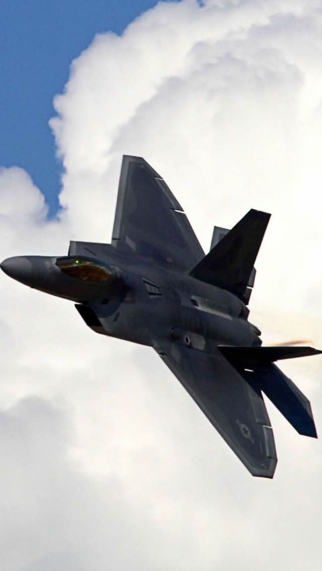 Lockheed Martin F 22 Raptor Iphone Wallpapers 戦闘機 軍用機 空軍