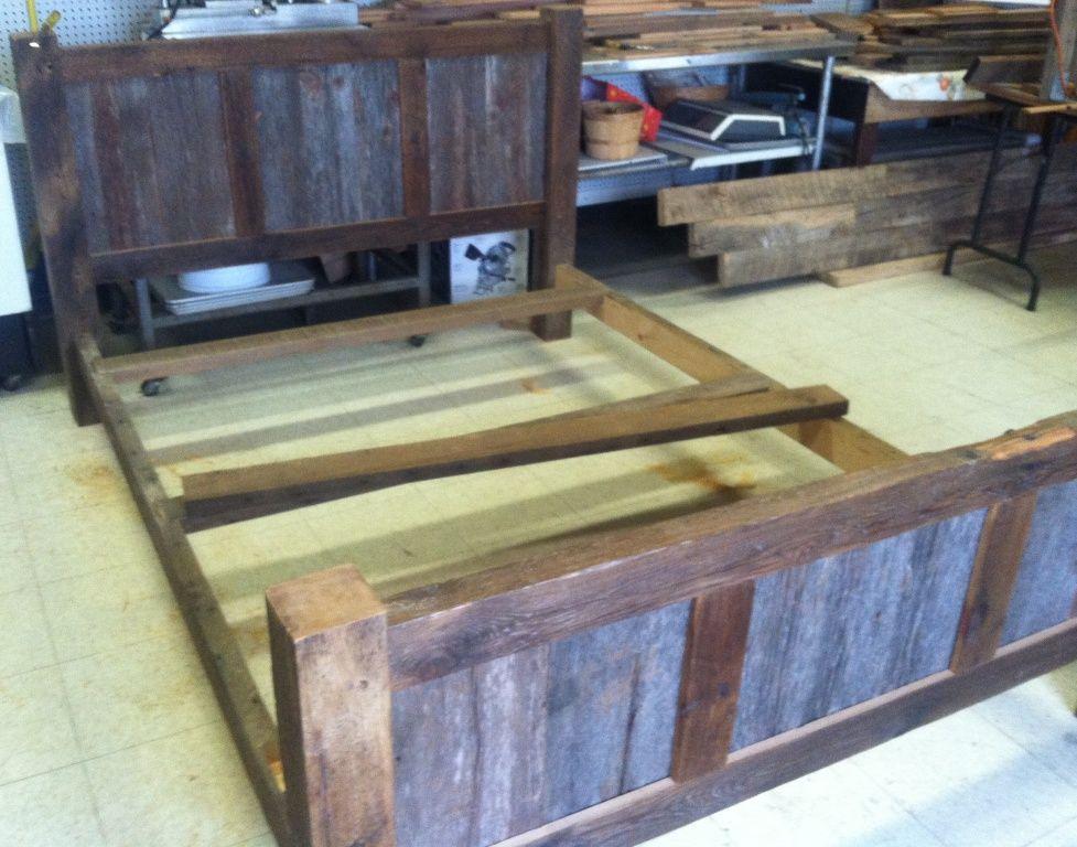 Reclaimed Barnwood Bed Frames Bed frame, Barnwood bed