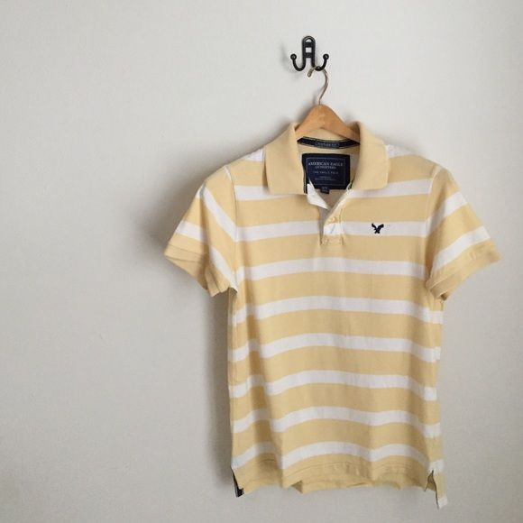 Men's American Eagle Polo Great shape; A couple really small faded stains that you literally only see very up close American Eagle Outfitters Tops