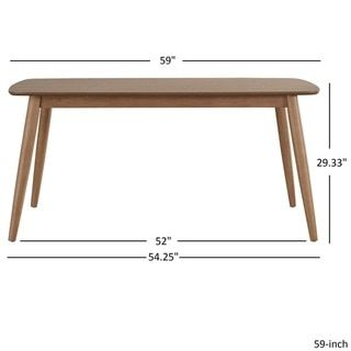 Delightful Norwegian Mid Century Danish Modern Tapered Dining Table INSPIRE Q Modern  By INSPIRE Q