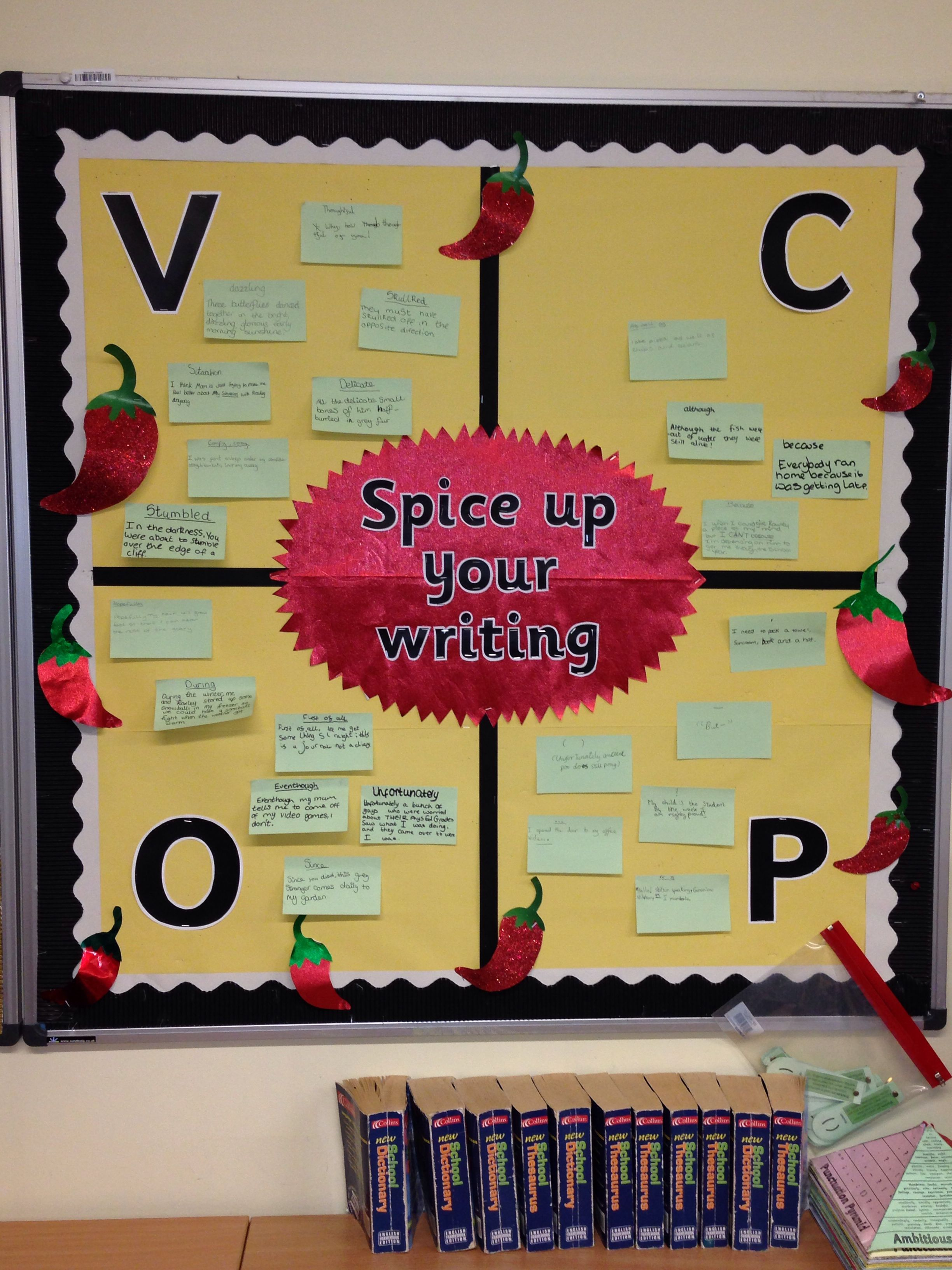 VCOP Big Write Proforma - Narrative