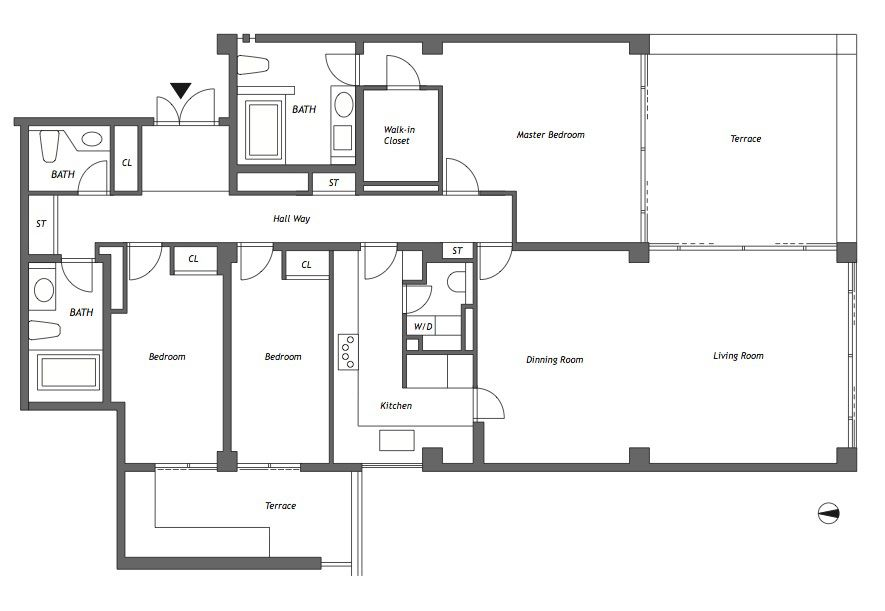 Pin By Norman Paterson On Architecture Housing Floor Plans Tadao Ando Apartments For Rent