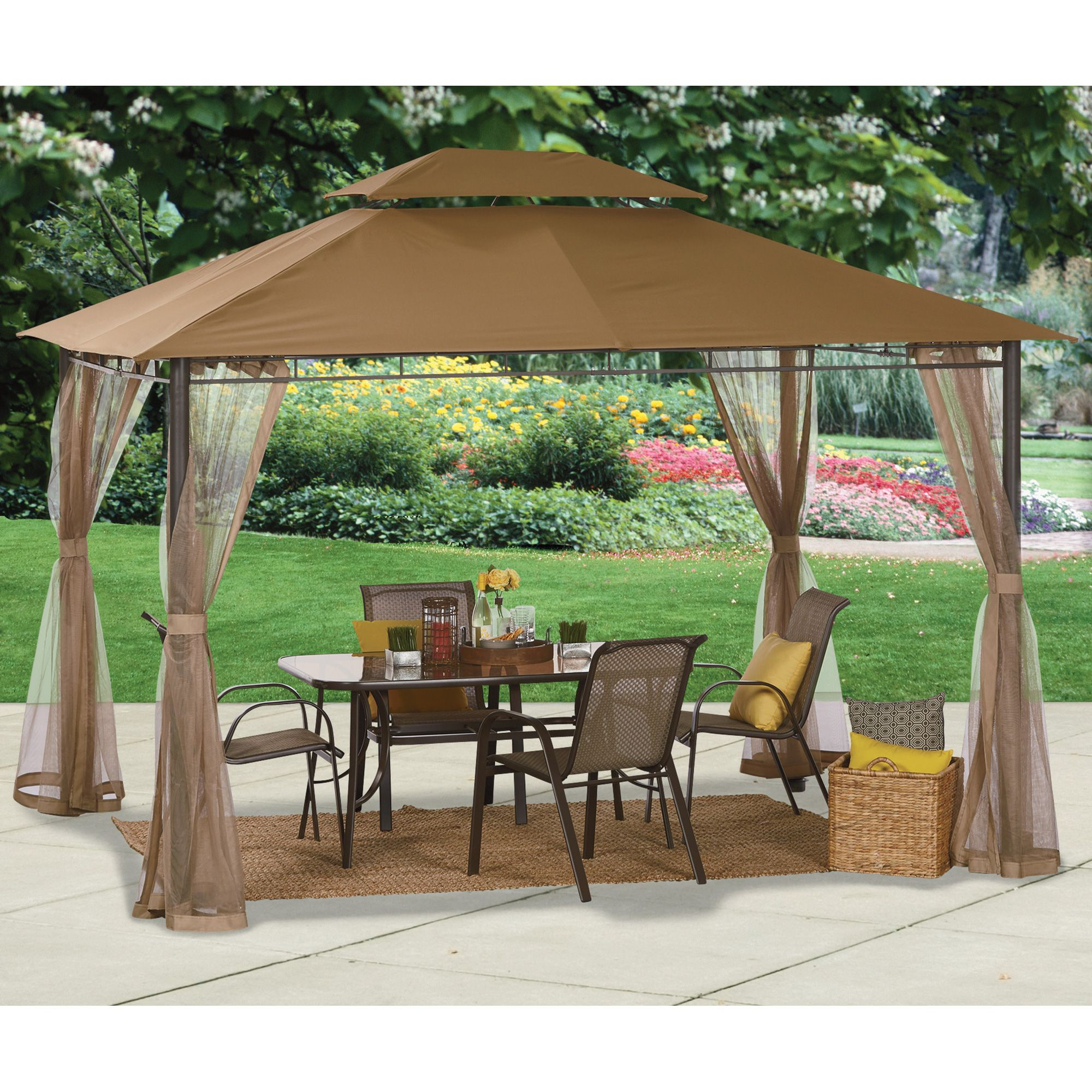 10ft X 12ft Deluxe Patio Gazebo Outdoor Party Protection Www Kotulas Com Free Shipping Patio Tents Patio Patio Gazebo