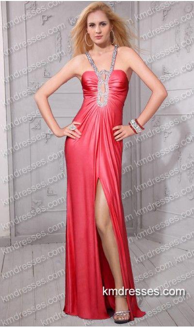 Slinky beaded keyhole exposed back floor-length sheath dress.prom ...