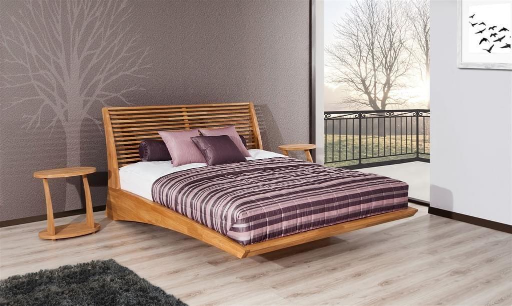Massivholzbett Bett Schlafzimmerbett FRESNO Eiche massiv