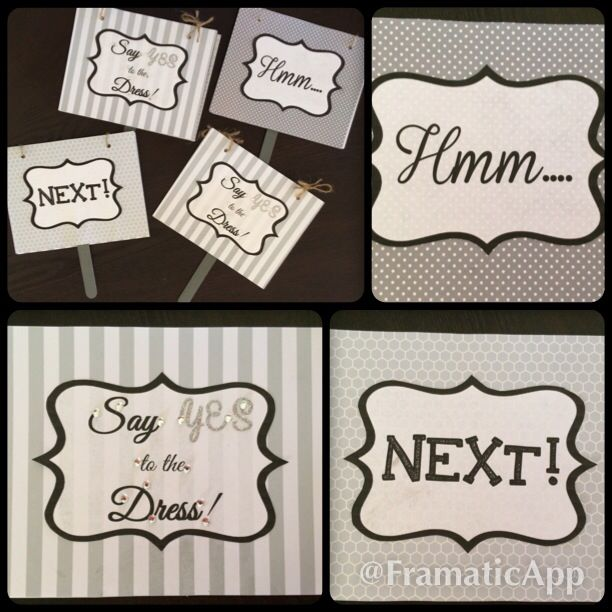Say Yes To The Dress Flip Signs For Your Bridal Party When