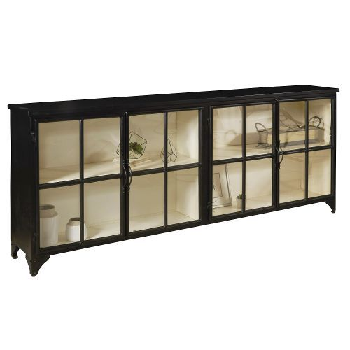 Iron and Glass Console - Maura Collection