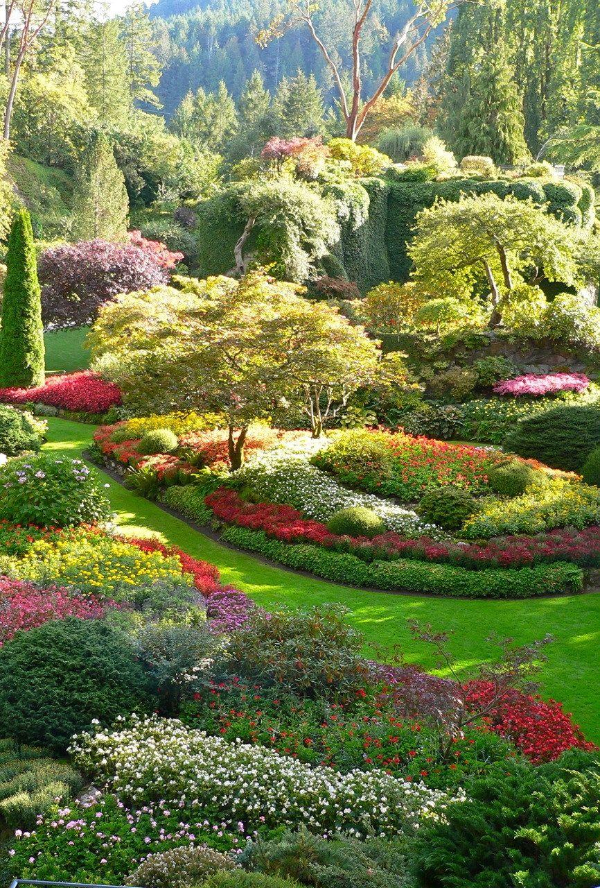 Portrait photo of Butchart Gardens, Vancouver Island ...