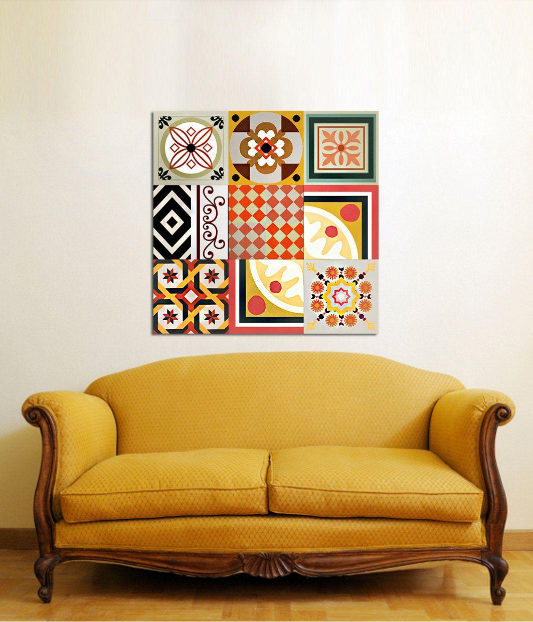 Decorative panel 9 elements. Ceramic tiles imitation. | Dream Home ...