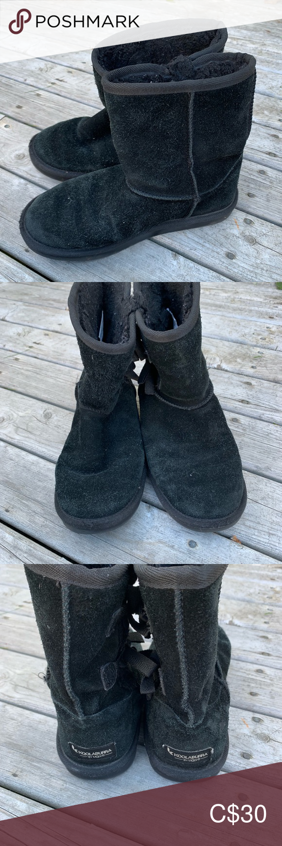Ugg Koolaburra Girls 4 Short Black Boots Bow Sides Koolaburra by UGG  Girls 4 Short Black Boots Bow Sides In great, gently used condition Koolaburra Shoes Boots #uggbootsoutfitblackgirl Ugg Koolaburra Girls 4 Short Black Boots Bow Sides Koolaburra by UGG  Girls 4 Short Black Boots Bow Sides In great, gently used condition Koolaburra Shoes Boots #uggbootsoutfitblackgirl