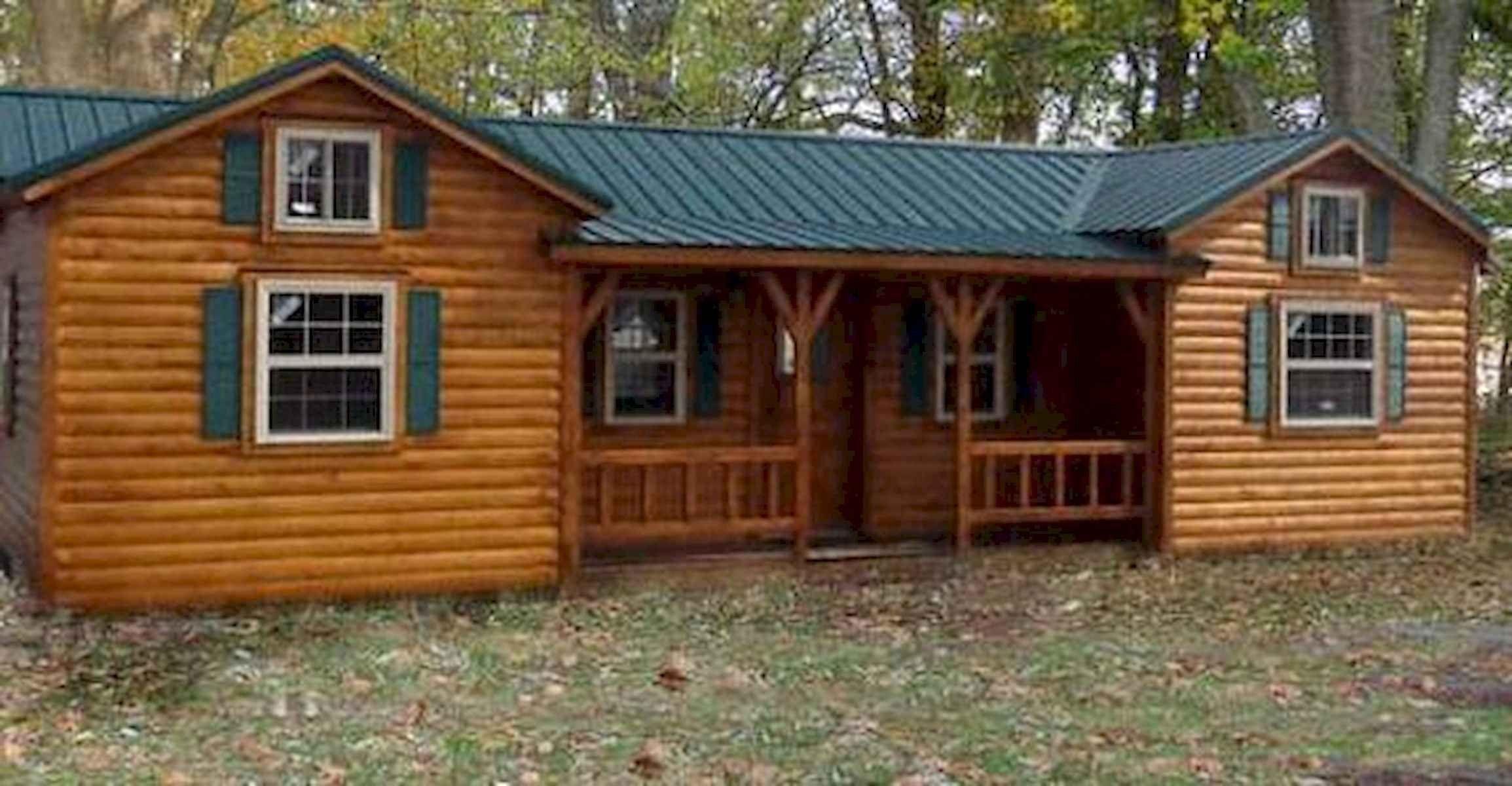 40 Best Log Cabin Homes Plans One Story Design Ideas Rumah Indah Desain Rumah Desain