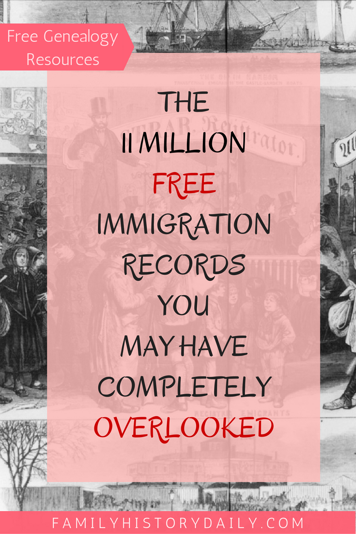 Using Castle Garden Immigration Records for Genealogy | Pins