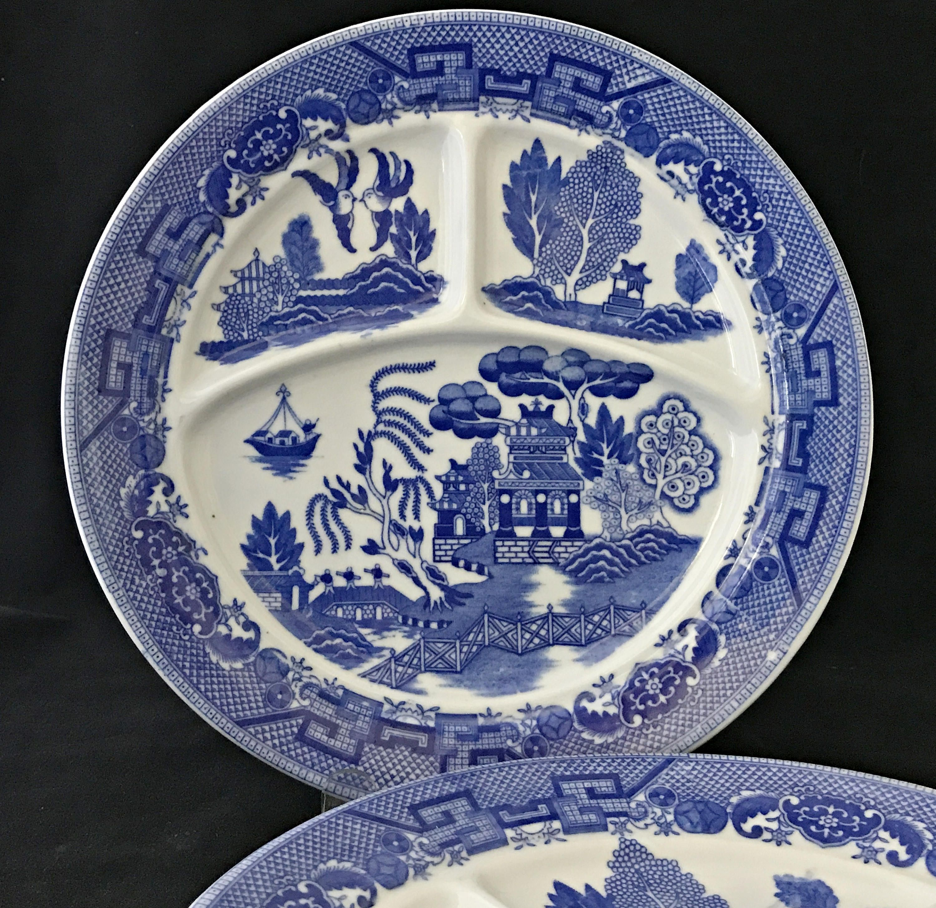 2 Vintage Blue Willow Grill Plates Divided Plates Restaurant Ware Made In Japan By Anniesoldstuff On Etsy 16 Ann Blue Willow China Grill Plate Blue Willow