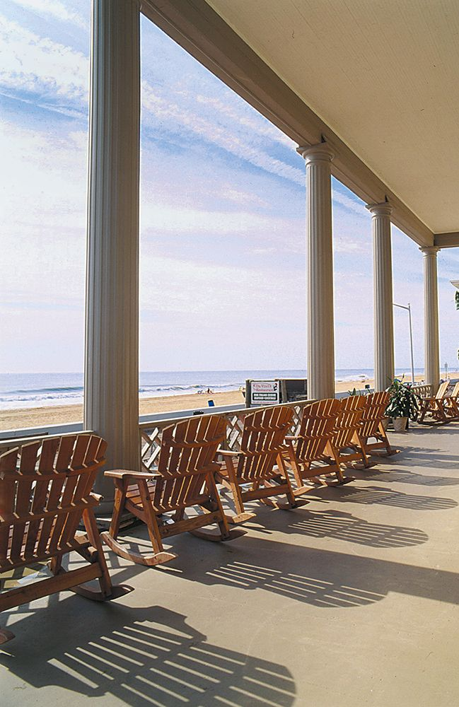 We'll take one room and one rocking chair for our morning coffee, please.  Harrison Hall has great views of the beach and boardwalk! #ocmd