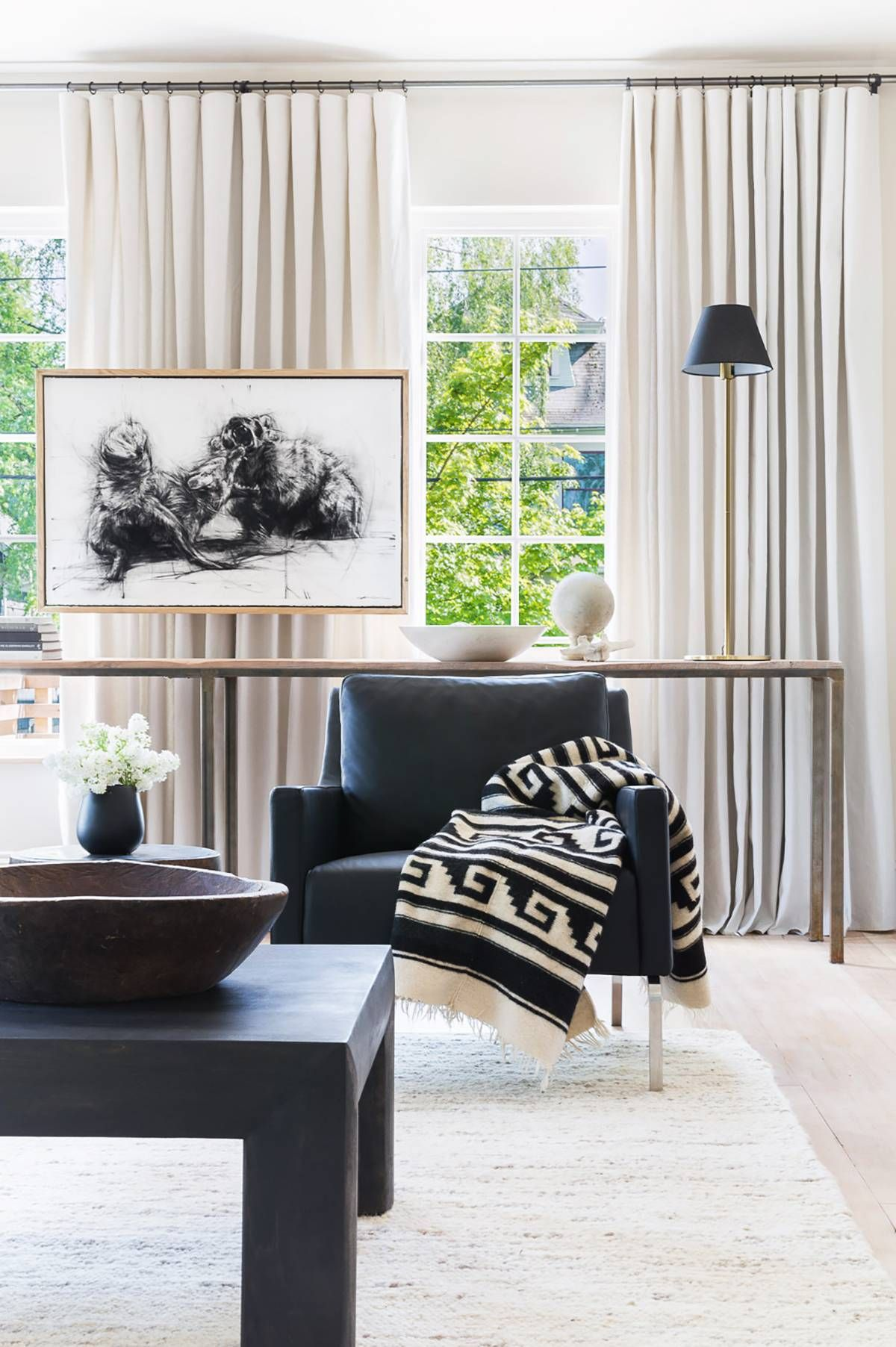 This Modern Portland Home Tour Will Make Your Eyes Light Up Neutral Living Room Living Room Decor Curtains Curtains Living Room #neutral #curtains #living #room