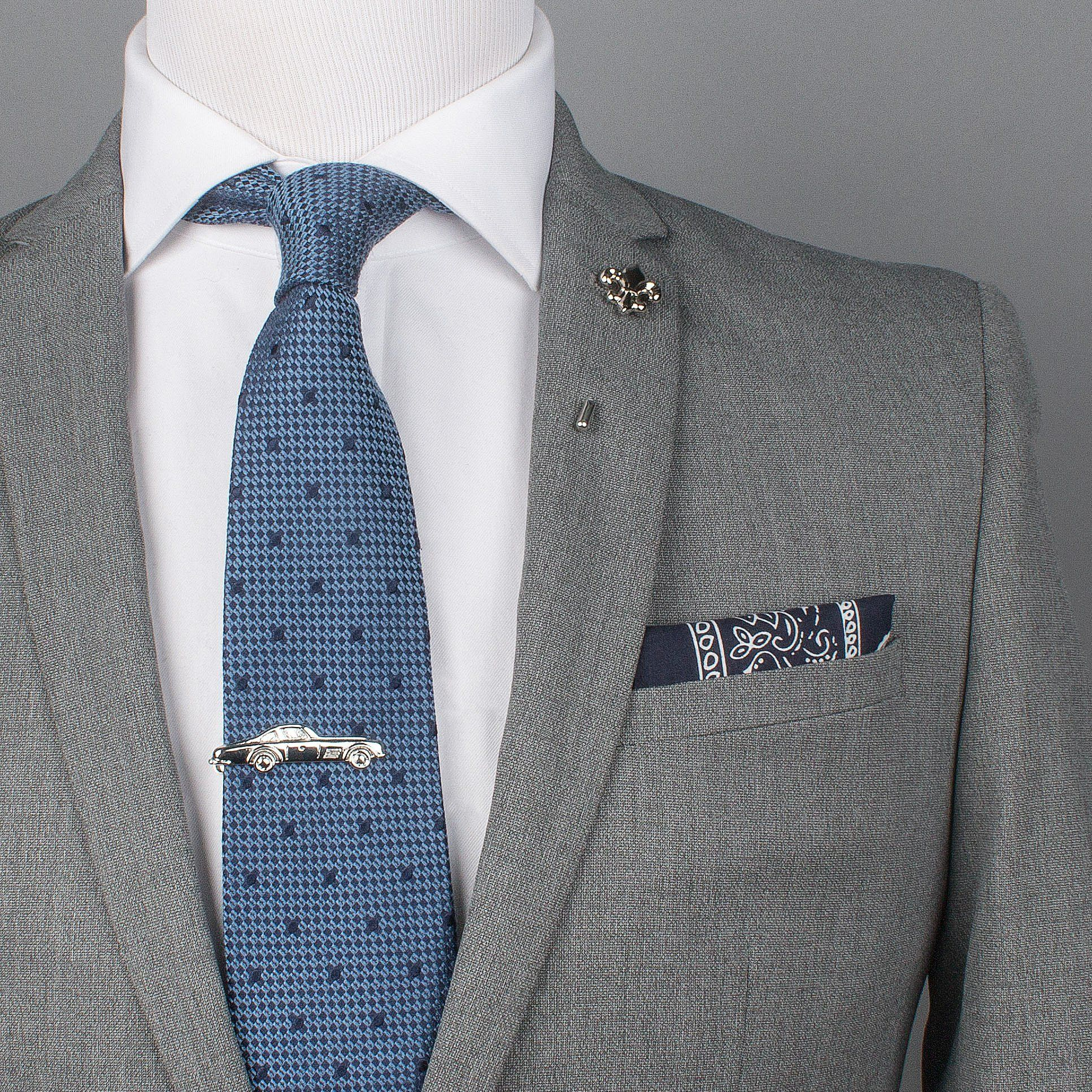 Blue Bandana Cotton Pocket Square Men's Fashion in 2019