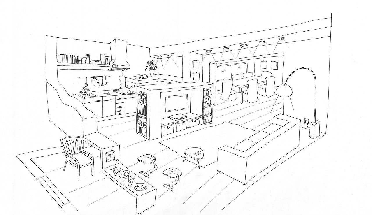Interior Design Coloring Pages Fun For Practicing Rendering Textures And Patterns Interior Design Drawings Coloring Pages Interior Design Sketches