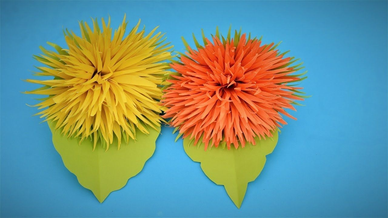 Easy Paper Craft How To Make Beautiful Flowers With Paper