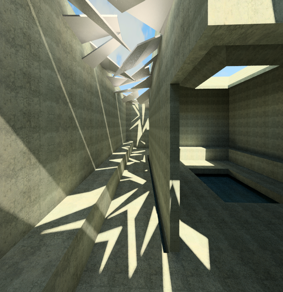 Roof Lighting Concept In Basic Form: How The Shadows Form Patterns Of