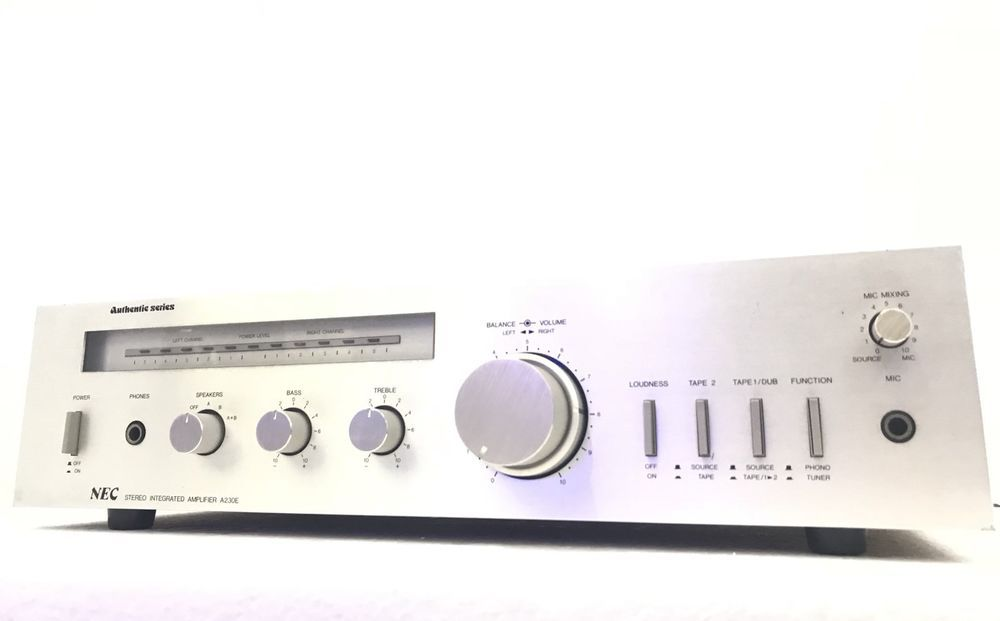 NEC A-230E Stereo Amplifier 50 Watts RMS Vintage Working Refurbished