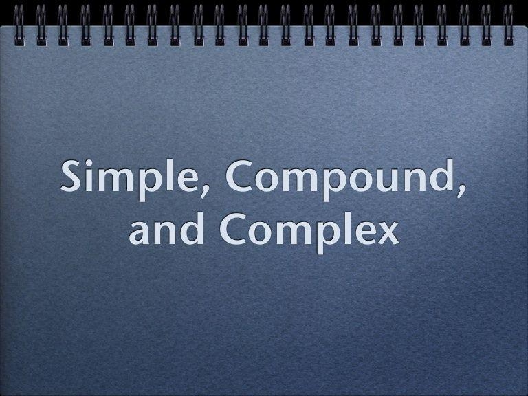Simple, Compound, and Complex ELA Pinterest Compound complex