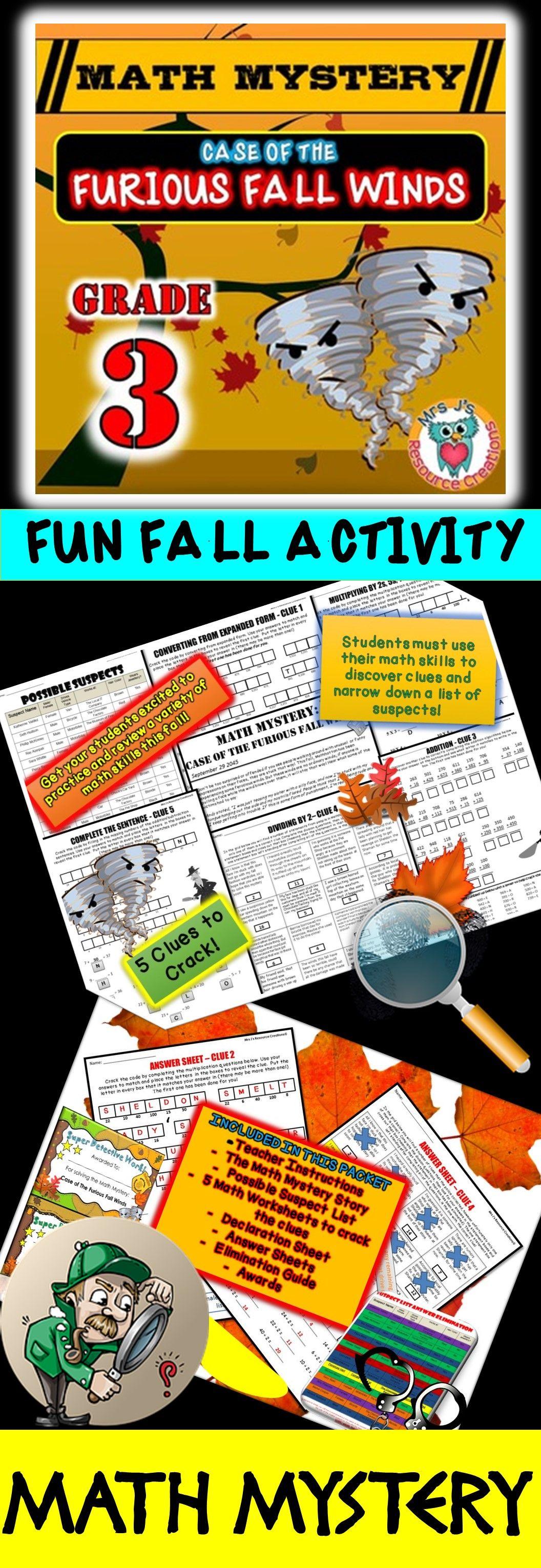 3rd Grade Fall Activity