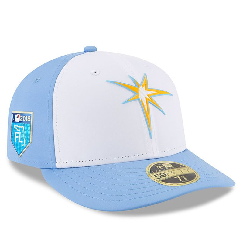 best service 4b4de 16d6a Tampa Bay Rays New Era 2018 Spring Training Collection Prolight Low Profile  59FIFTY Fitted Hat – White