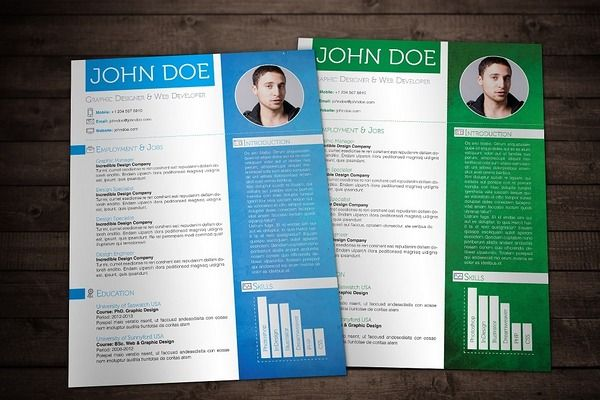 Colorful Textured Print Resumes  Resume Templates On Creative