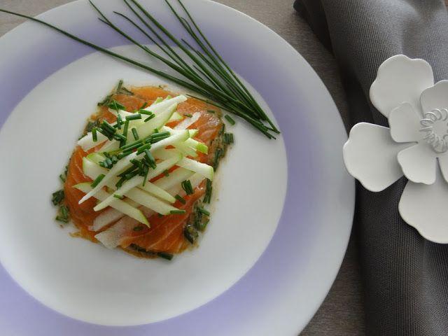 Smaki Francji Wspolczesna Kuchnia Francuska Losos Z Jablkiem Granny Smith Recette Vegetarienne Cuisine Francaise Cuisine