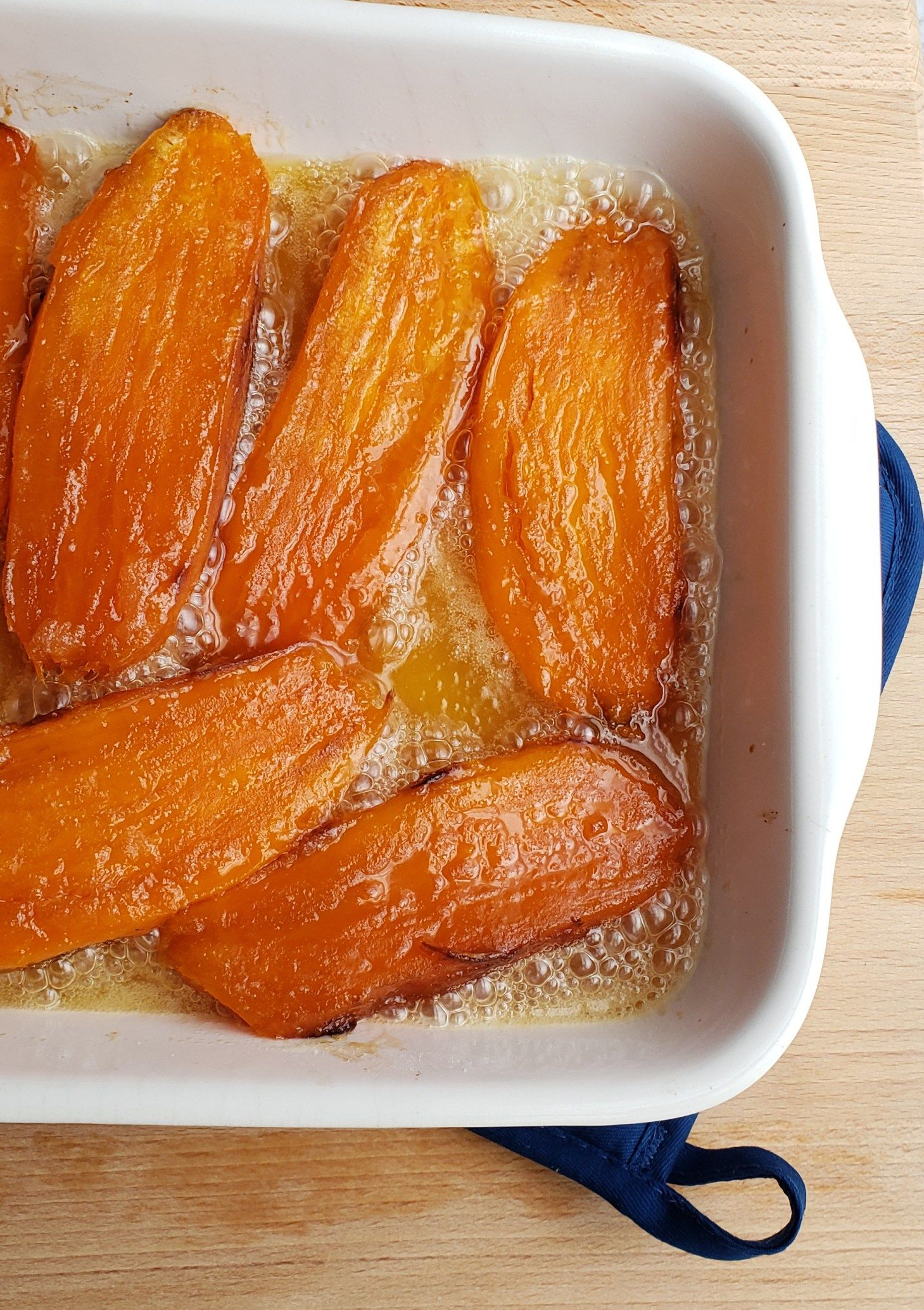 Candied Roasted Sweet Potatoes - Grits and Gouda