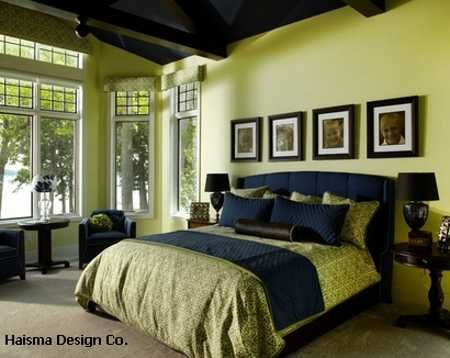 Green And Black Bedroom Mesmerizing 25 Bold Bedroom Designs Created With Bright Bedroom Colors  Black . Design Inspiration