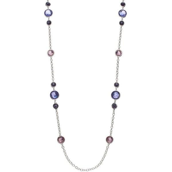Dana Buchman Circle Link Long Station Necklace (Purple) ($21) ❤ liked on Polyvore featuring jewelry, necklaces, purple, dana buchman, circle jewelry, dana buchman jewelry, purple necklace and long necklace