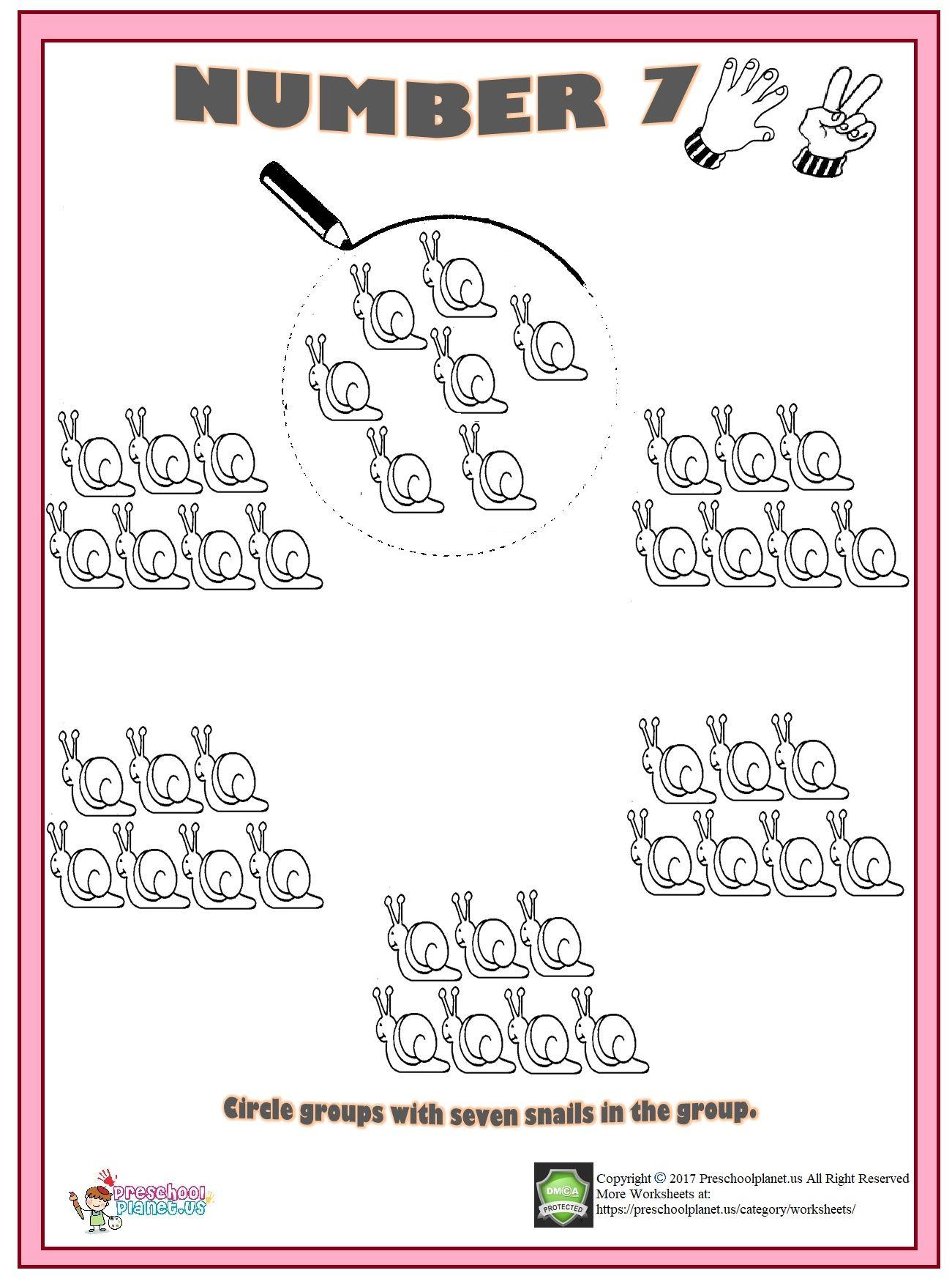 Number 7 Worksheet Preschool Worksheets Numbers Preschool Kindergarten Phonics Worksheets [ 1753 x 1301 Pixel ]