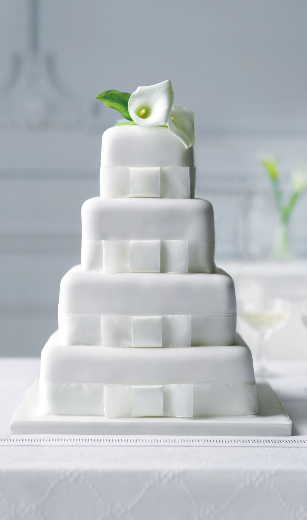 4 Tier Elegant Assorted Wedding Cake | M&S | cake inspirations ...