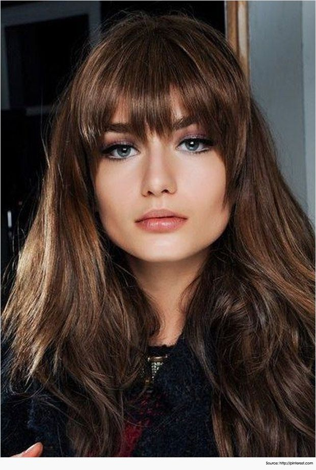 Amazing Long Hairstyles With Bangs For Round Face Lang Haar Kapsels Kapsels Lang Haar Pony