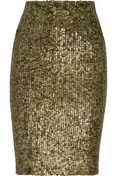 Alice + Olivia Bryce sequined pencil skirt | NET-A-PORTER