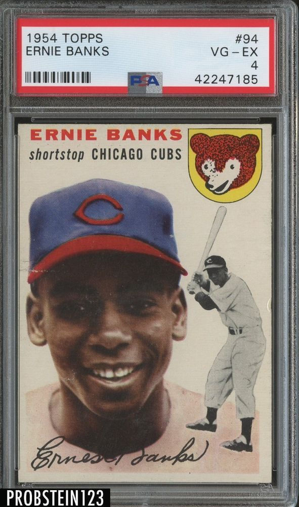1954 Topps 94 Ernie Banks Chicago Cubs RC Rookie HOF PSA