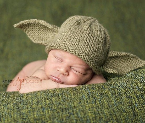 Yoda Baby Hat   Star Wars Swag   Pinterest   Perales, Gorro tejido y ...