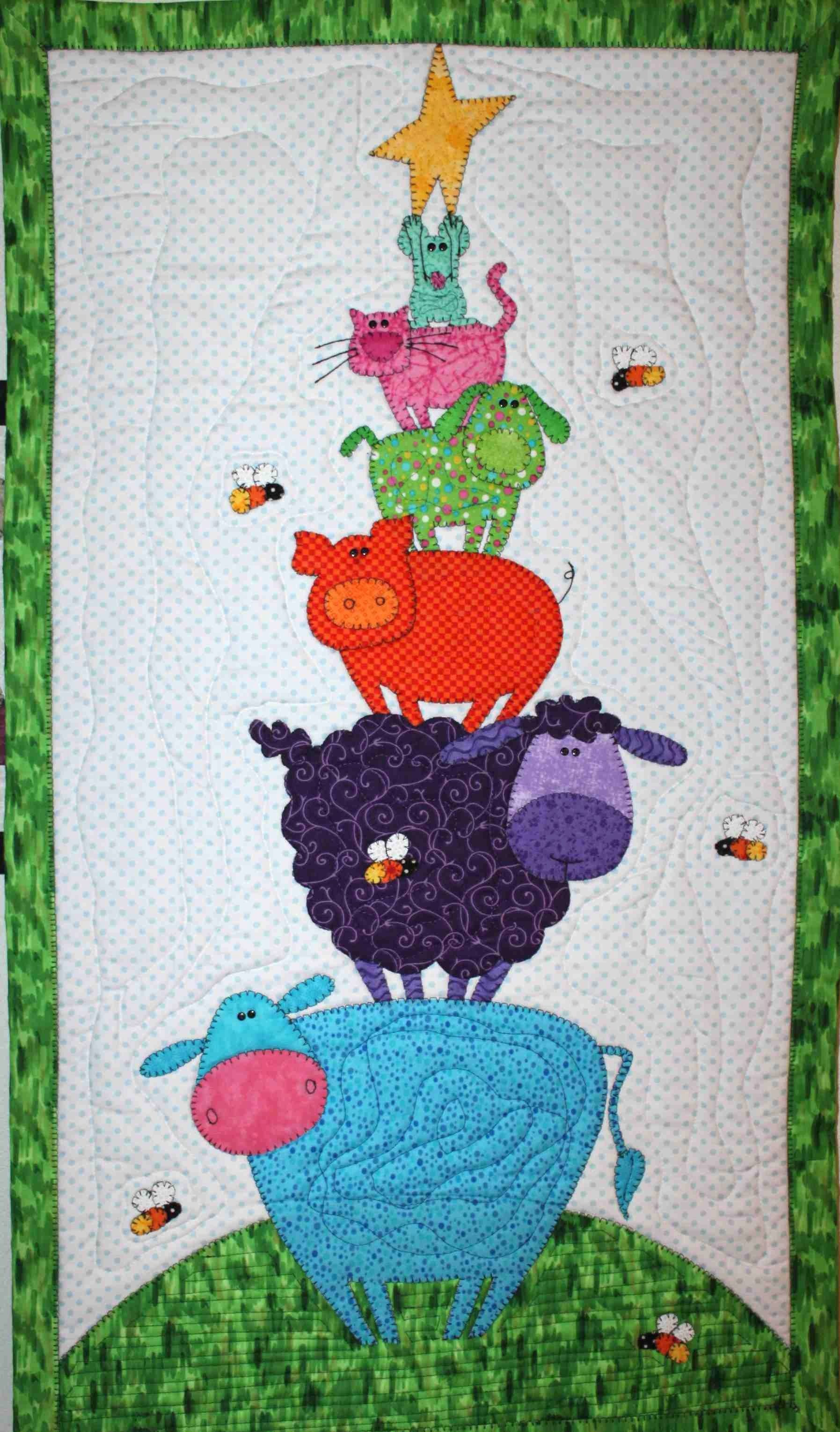 Amy Bradley Pattern Barnyard Tower Baby Quilted Wall