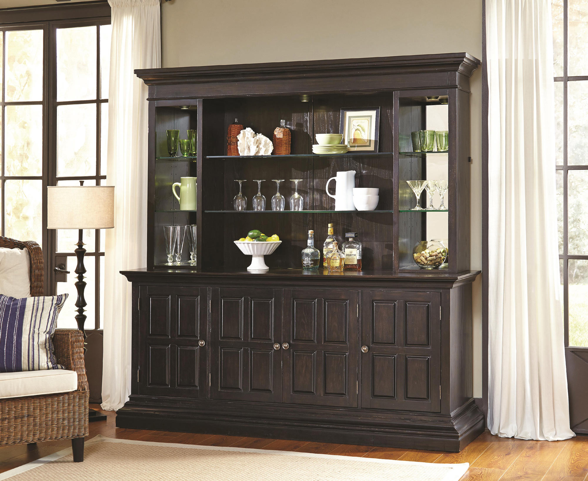 Burton Back Bar In Dark Wood By Ski Home Gallery S