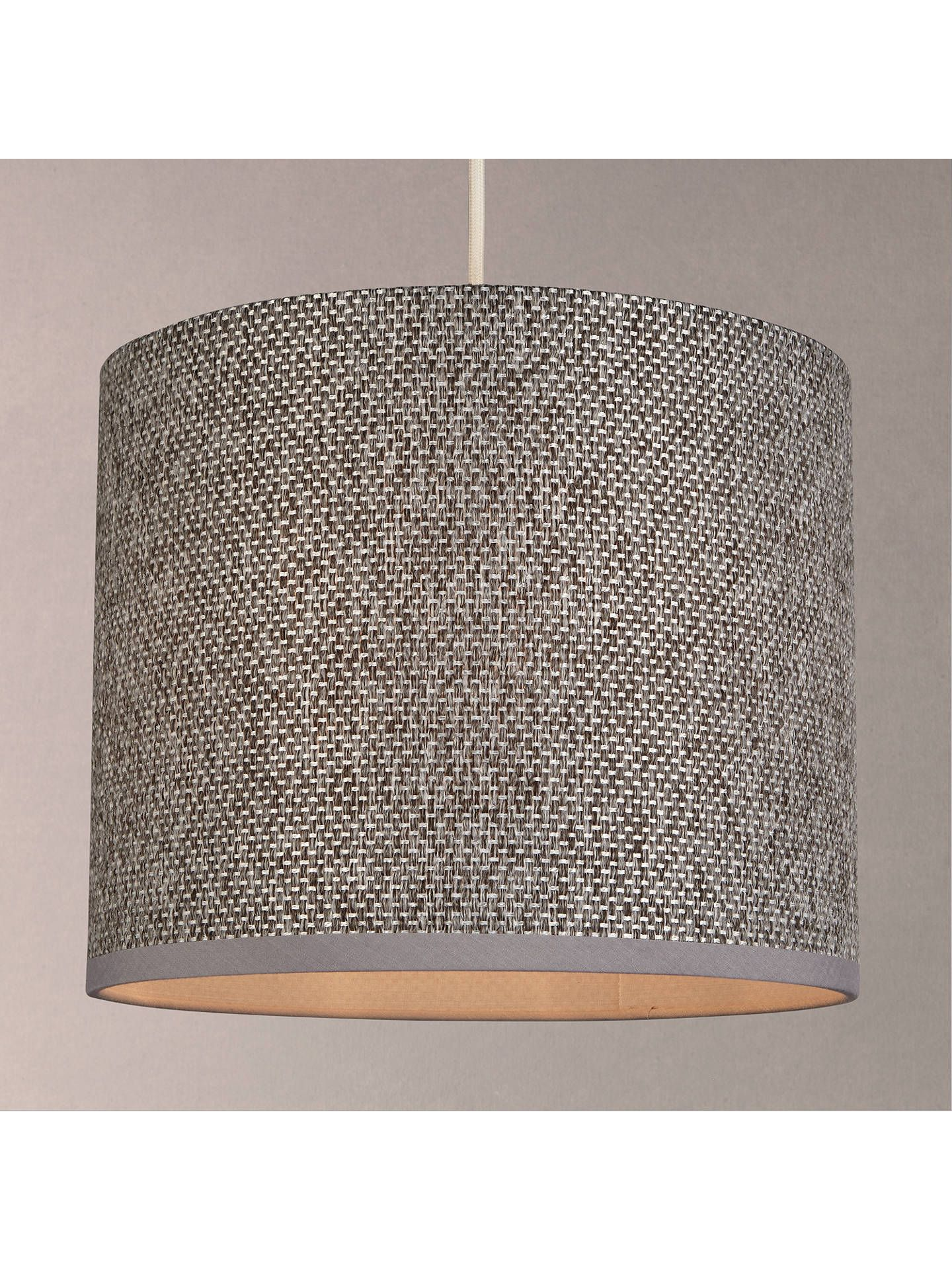 Design Project By John Lewis No 178 Weaved Lampshade Grey Lamp Shades Pink Light Shades Light Shades